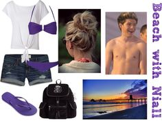 """""""Beach with Niall"""" by for-the-love-of-music ❤ liked on Polyvore"""