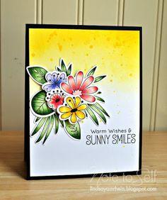 Blissful Blooms: MFT, copics, flower sketch - Monique Lhuillier