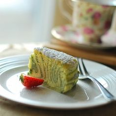 Green Tea Japanese Cheesecake by febie  #Cheesecake #Green_Tea