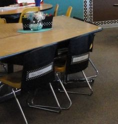 Chair pockets - great organization idea for the classroom.