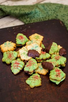 Peppermint Spritz Cookies #ChristmasWEek from The Girl In The Little Red Kitchen