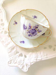 Vintage Rare Nymphenburg Porcelain Teacup and by MariasFarmhouse