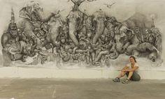 elephants mural adonna khare (5)