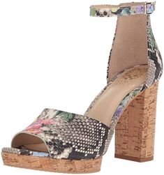 Vince Camuto Women's Ciestie Heeled Sandal, Multi Violet, Medium US Mid Calf Boots, Knee High Boots, Dress Sandals, Shoes Sandals, Funky Shoes, Peep Toe Heels, Types Of Shoes, Beautiful Shoes, Summer Shoes