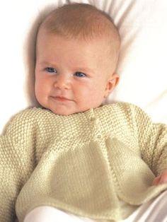 Lazy Daisy Baby Jacket - free knitting pattern - Pickles