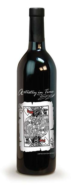 Wine label Artistry in Time PD#wine #vino #packaging