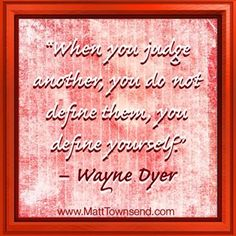 ... you define yourself...