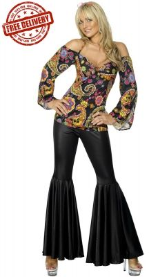 6037cc4e161a Hippie Lady Costume Hippie Costume, Hippie Party, Costume Dress, Costumes  For Women,
