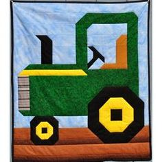 Tractor Quilt Pattern in 3...