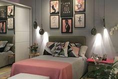 Teen Bedroom Designs, Bedroom Decor For Teen Girls, Room Design Bedroom, Small Room Bedroom, Room Ideas Bedroom, Home Decor Bedroom, Teenage Room Decor, Grey Bedroom Colors, Stylish Bedroom