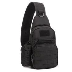 99f8c03a8dde Men Nylon Military Travel Water Bottle Shoulder Messenger Sling Pack Chest  Waterproof Bag