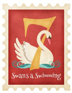 Seven Swans A-Swimming by Anita Van Hal Twelve Days Of Christmas, Christmas Morning, Seven Sacraments, Seven Swans, All Grown Up, Epiphany, Holy Spirit, Coloring Pages, Coloring Books