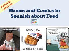 """Teaching a unit about La Comida? Here's some media resources for your Spanish classroom for this Food unit: Música/Videos/Audio Canción """"Chocolate"""" de Jesse y Joy Canción """"Una en un mil…"""
