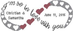 Infinity Love Symbol Cross Stitch Pattern, I'm so in love with you