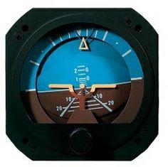 KH.001 Künstl.Horizont RC Allen elektrisch  80 mm Einbaumaß. Landebahnsymbol blau/braun markiert. Mit Handaufrichtung. Lieferbar in 12 oder 24 V. Mit FAA Form 8130.