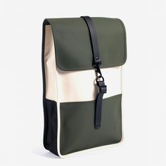 RAINS Beige and Green Water-Resistant Rucksack - Sale - ShopStyle Backpacks Popular Backpacks, Stylish Backpacks, Rains Backpack, Waterproof Backpack, Rain Wear, Leather Accessories, Luggage Bags, Fashion Bags, Leather Backpack