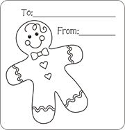 christmas gift tags to color free printable gift tags for kids to color gingerbread - Coloring Pages Christmas Stuff