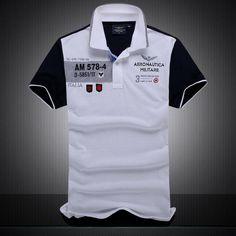 2a4869210 new summer autumn Air Force One men's boutique embroidery Aeronautica  Militare lapelheavengifs. MAGIC-SHOPY · polo