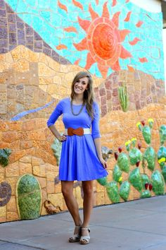 BlueGreenAqua Boutique Dress || Penn & Quill