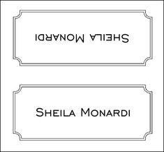 Place Card Template 2 Template | Naamkaartjes | Pinterest | Place ...