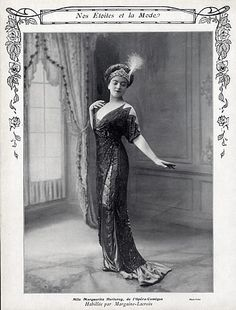 Margaine-Lacroix (Couture) 1912 Marguerite Herleroy, Evening Gown