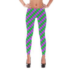 Mardi Gras Leggings - Diamond Checkered Mardi Gras Leggings - Mardi Gras Costume