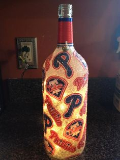 Phillies light up wine bottle