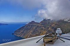 Firostefani by Nikolaos Mitkanis Santorini Island, Greece, Mountains, Nature, Travel, Greece Country, Naturaleza, Viajes, Trips