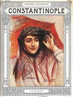 """Fransız Figaro gazetesinin Ekim 1908 tarihli özel İstanbul ekinde Fausto Zonaro'nun eseri: """"Yeni Türkiye"""" #istanlook"""