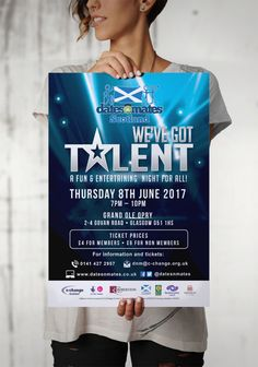 WE'VE GOT TALENT – Large printout event poster for marketing dates-n-mates Scotland's We've Got Talent Show. #graphicdesign #marketing #advertising #branding #poster #printout #print #events