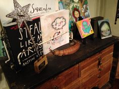 My art studio- A collection of little books that inspire me.