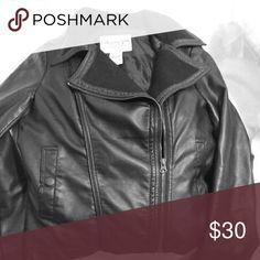 American Rag biker jacket Black American Rag faux leather biker jacket American Rag Jackets & Coats