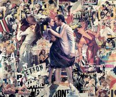 Original Love Collage by Marco Innocenti Canvas Paper, Canvas Art, Los Kiss, Love Collage, Pop Art, Saatchi Art, The Originals, Portrait, Digital
