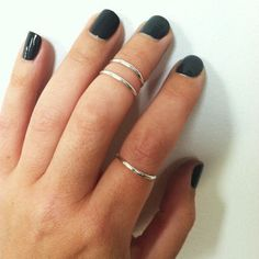 3 Layering Sterling Silver Stacking Midi Rings- any size