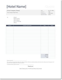 Hotel quotation format for excel quotation templates dotxes hotel rate quotation sample altavistaventures