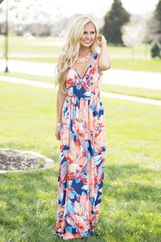 Whimsical Ambitions Maxi Dress - The Pink Lily