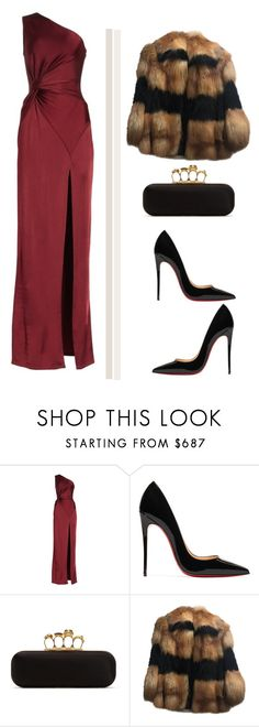 """""""Untitled #321"""" by dalal10 on Polyvore featuring Cushnie Et Ochs, Christian Louboutin and Alexander McQueen"""
