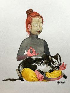 Ananya. #watercolour #krishnafortoday