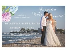 We Eloped Invitations & Announcements Printable Wedding