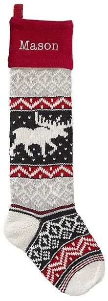 POTTERY BARN KIDS NATURAL FAIR ISLE CHRISTMAS STOCKING *KATHERINE ...