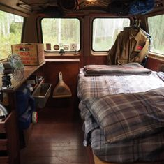The first thing Alyssa and I did when we moved into our first RV, was rip everything out and do a massive renovation. We loved the idea of turning the RV into our first home Minivan Camping, Camping Life, Van Conversion Campervan, Ford Transit Connect Camper, Cheap Van, Converted Vans, Motorhome Interior, Travel Camper, Van Dwelling