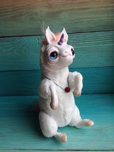 FANTASY PLUSH ANIMAL Magic Unicorn Ooak Fantasy Creature Doll