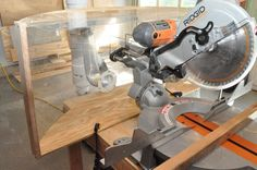 how to make a dust hood for a compound miter saw, pictures and instructions, #dust shield for saw, #dust hood, #compound miter saw, #sawdust shield