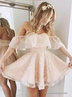 A-Line Prom Dress, Lace Homecoming Dresses, Homecoming Dresses Short, Cute Homecoming Dresses · Handmade Dress · Online Store Powered by Storenvy Cute Short Prom Dresses, Short Graduation Dresses, Homecoming Dresses 2017, Hoco Dresses, Junior Dresses, Pretty Dresses, Evening Dresses, Elegant Dresses, Wedding Dresses