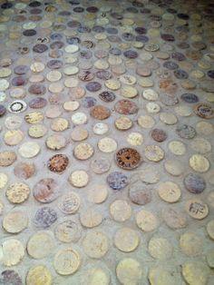 Wine cork floors! -or- How being drunken hoarders helped us remodel our bathroom! | Free Range Quest