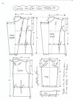 Pattern of a female jacket-jackets (Sewing and cutting) - Magazine Inspiration Needlewoman Coat Patterns, Mccalls Patterns, Dress Sewing Patterns, Blouse Patterns, Sewing Patterns Free, Clothing Patterns, Blazer Pattern, Jacket Pattern, Sewing Clothes