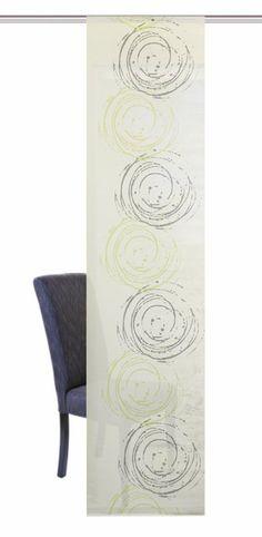 Schiebevorhang, Home Wohnideen, »IAN« (1 Stück mit Zubehör) ab 63,99€. Halbtransparenter Stoff, Einseitig bedruckt, Thermisch geschnittene Seitenkanten bei OTTO
