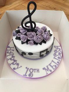Guitar Birthday Cakes, 21st Birthday Cake For Girls, 10 Birthday Cake, Birthday Cake Toppers, Music Themed Cakes, Music Cakes, Violin Cake, Music Note Cake, Charm City Cakes