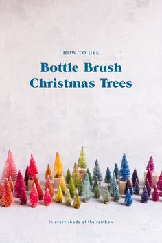 Create a rainbow of Christmas trees with our step-by-step tutorial Christmas Hat, Christmas Is Coming, Christmas Themes, White Christmas, Christmas Crafts, Christmas Decorations, Christmas Ornaments, Scandinavian Christmas, Christmas Holidays