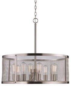 Ritesh 8-Light Drum Pendant